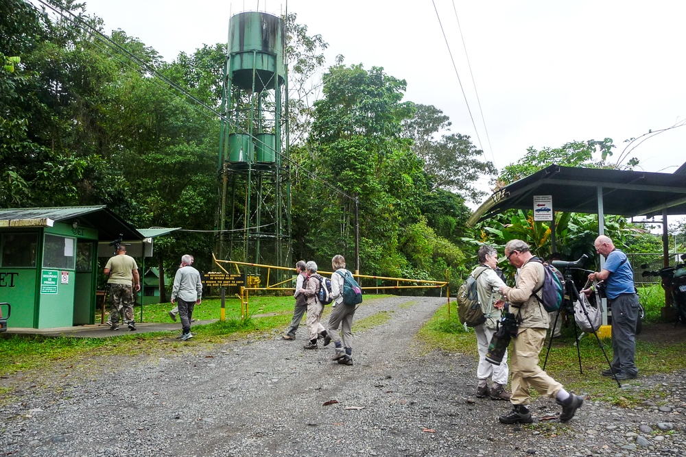 Entering La Selva Biological Station